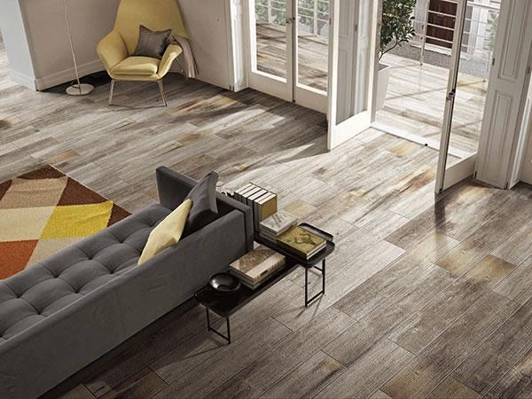 Woodgrain ceramic tile